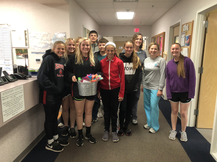 Advisee Thank You baskets for ECMC nurses