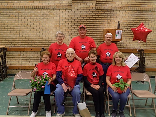 Jessie Kralik, MaryJo Huseman, David Bontrager,Mike Rust, Ruth Place, Roger McCauley, Linda Rust, not pictured (Carol Hicks)