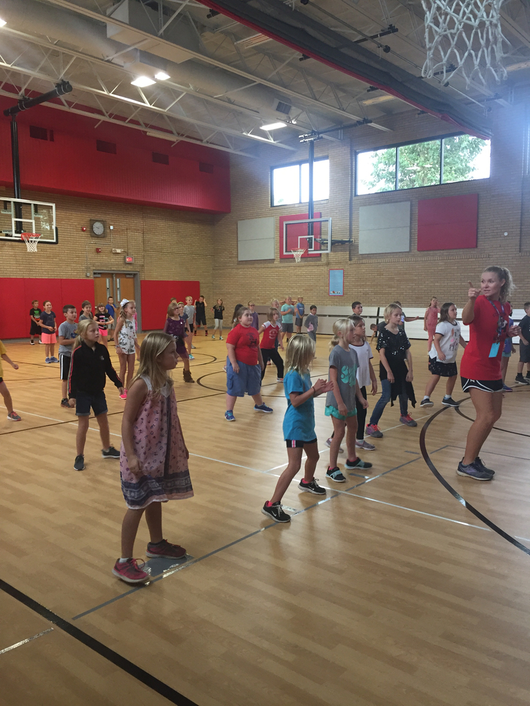 Students in PE and music at EES today practiced some line dancing in anticipation of Cowtown this weekend.