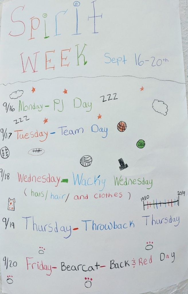 Spirit Week days at KMS!