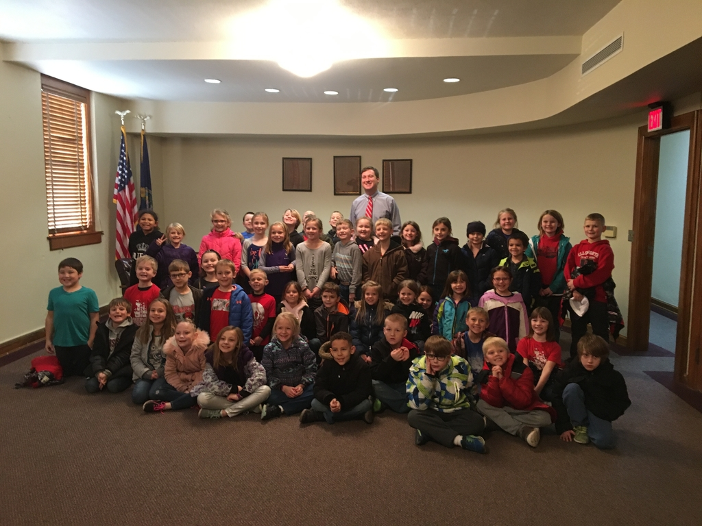 2nd grade with Mayor Kennedy