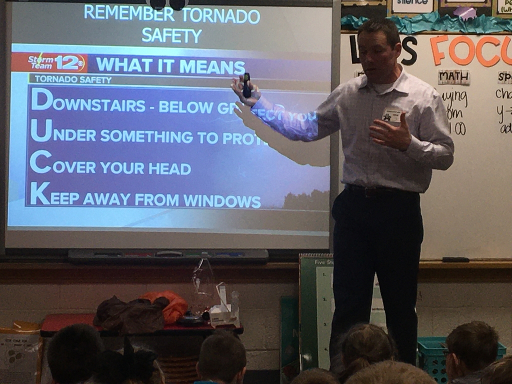 Tornado safety was a favorite topic