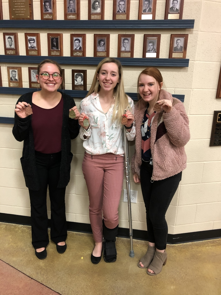 Cady, Jordi, and Kelsey - medal winners