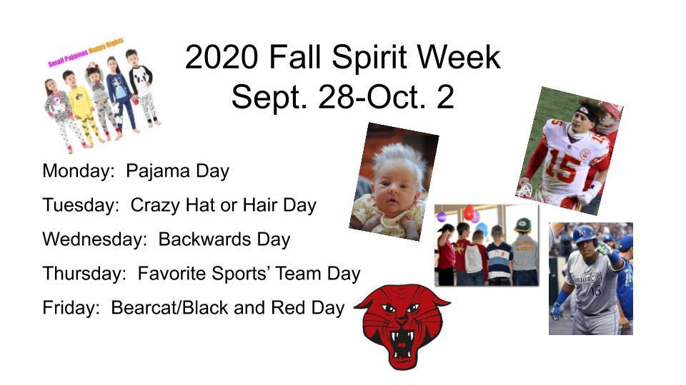 Fall Spirit Week Days